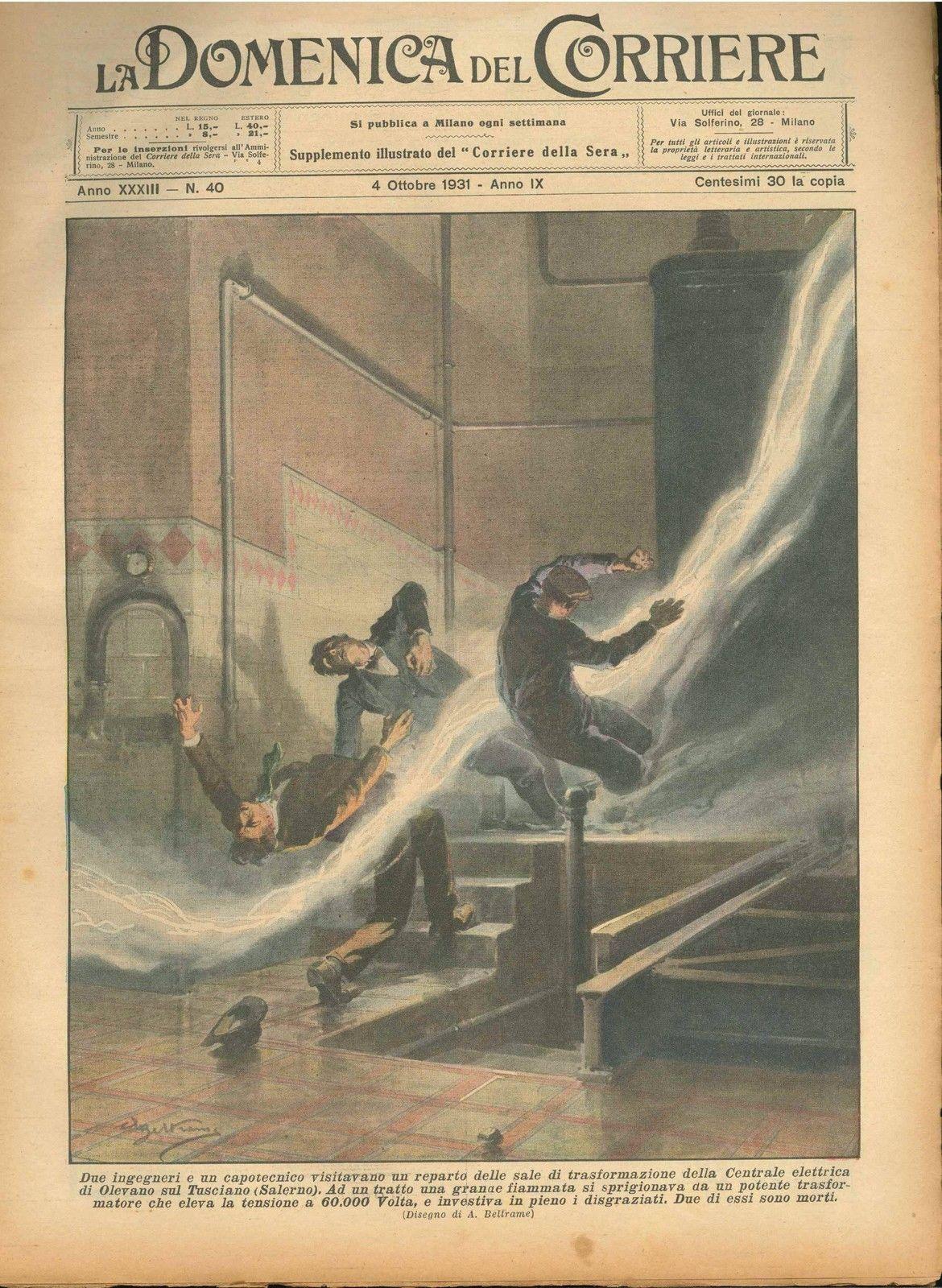 DOMENICA DEL CORRIERE N° 40 - 4 OTTOBRE 1931 - ILL.  A. BELTRAME