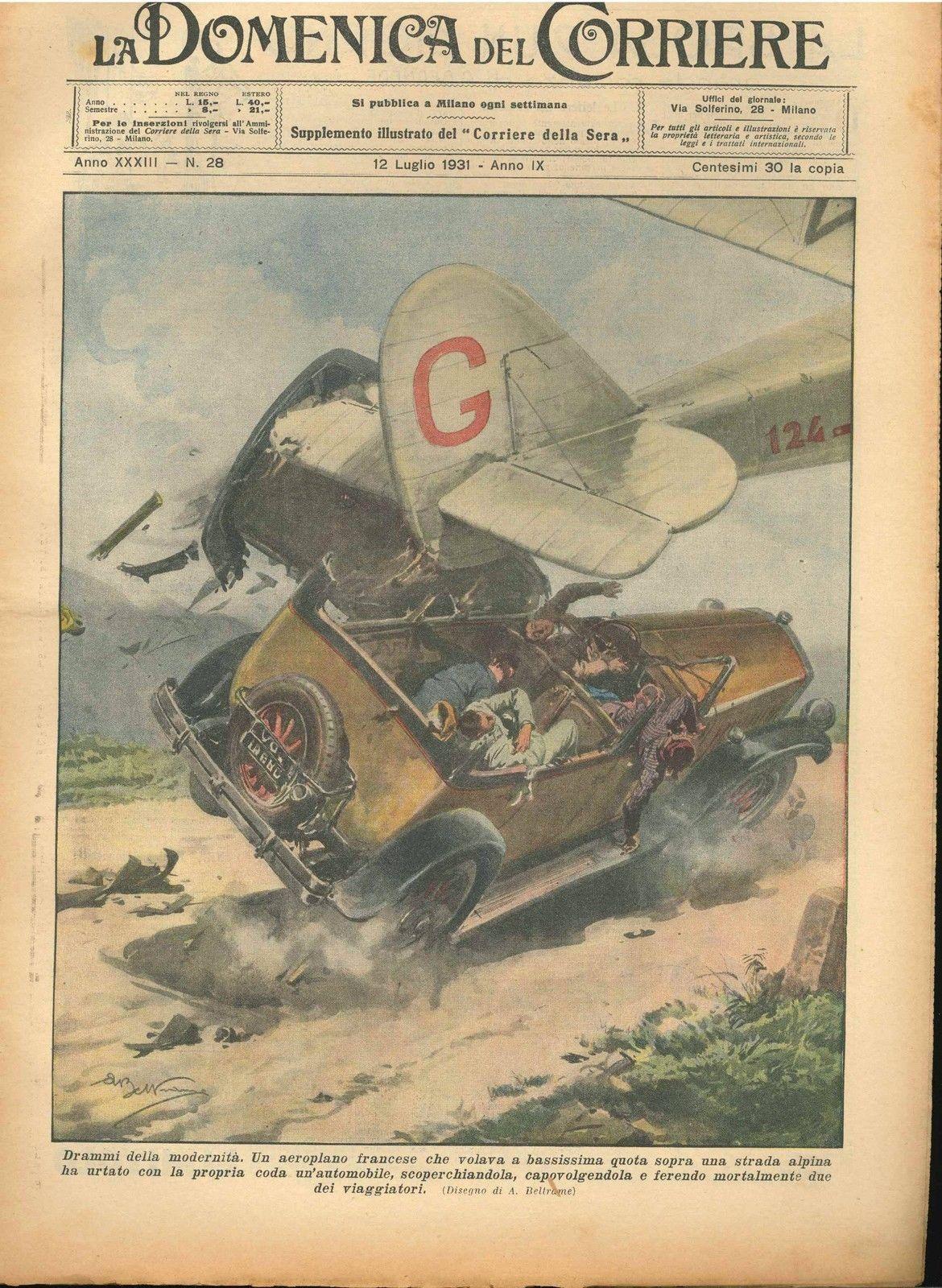 DOMENICA DEL CORRIERE N°  28 - 12 LUGLIO 1931 - ILL.  A. BELTRAME
