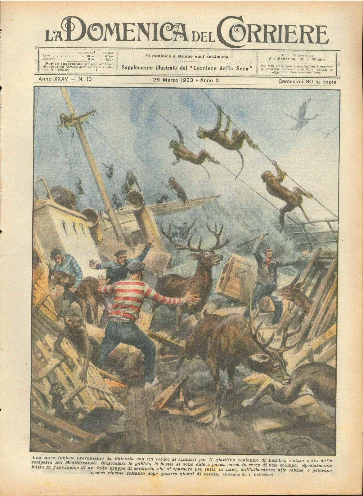 DOMENICA DEL CORRIERE N° 13 - 26 MARZO 1933 - ILL.  A. BELTRAME