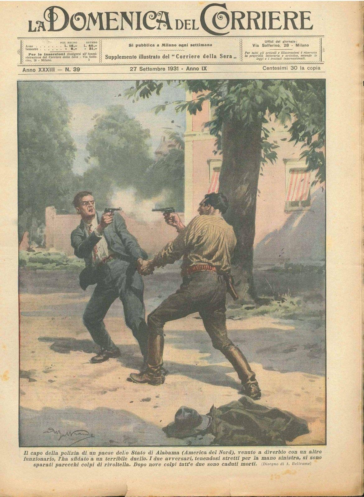 DOMENICA DEL CORRIERE N°  39 - 27 SETTEMBRE 1931 - ILL.  A. BELTRAME