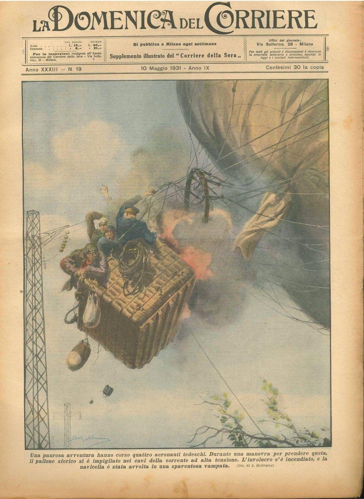 DOMENICA DEL CORRIERE N°  19 - 10 MAGGIO 1931 - ILL.  A. BELTRAME