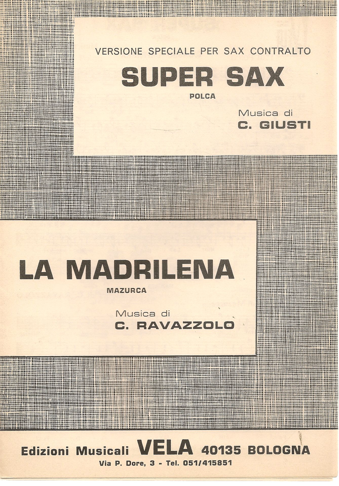 SUPER SAX - LA MADRILENA - SPARITO-SHEET MUSIC