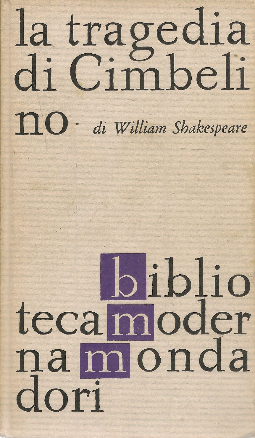 LA TRAGEDIA DI CIMBELINO - WILLIAM SHAKESPEARE