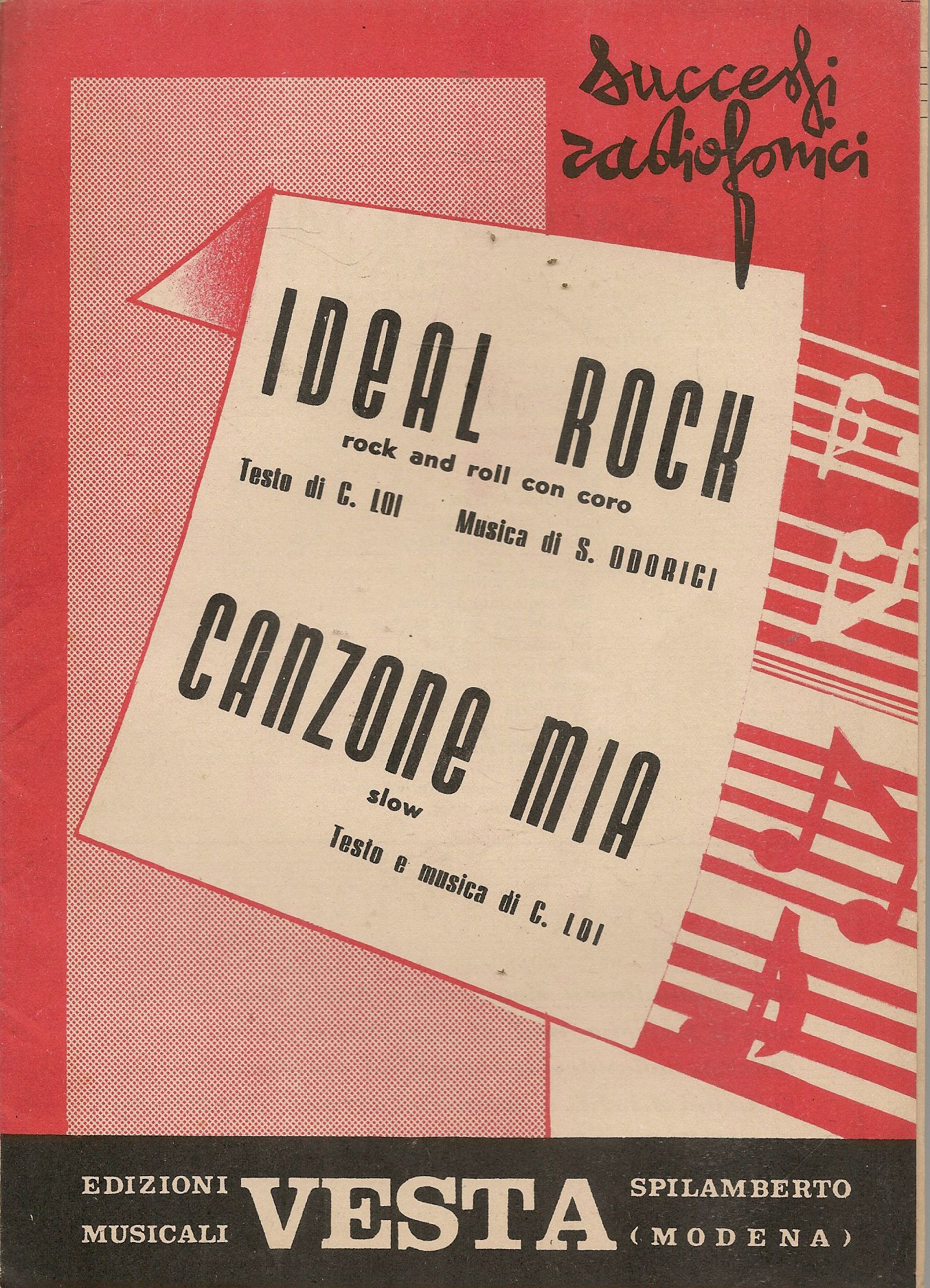 IDEAL ROCK - CAMZONE MIA - C.  LOI - SPARTITO - SHEET MUSIC
