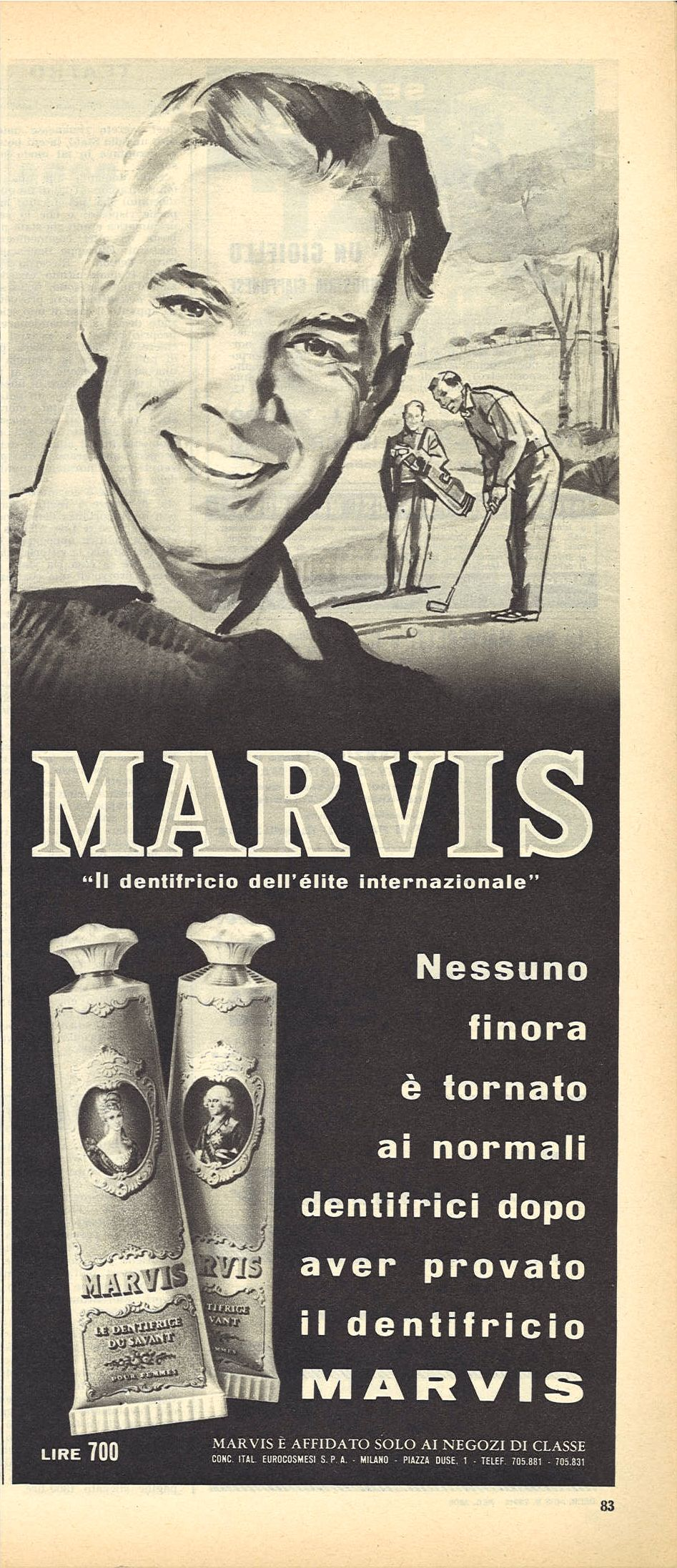MARVIS IL DENTRIFICIO DELL'ELITE INTERNAZIONALE - ADVERTISING