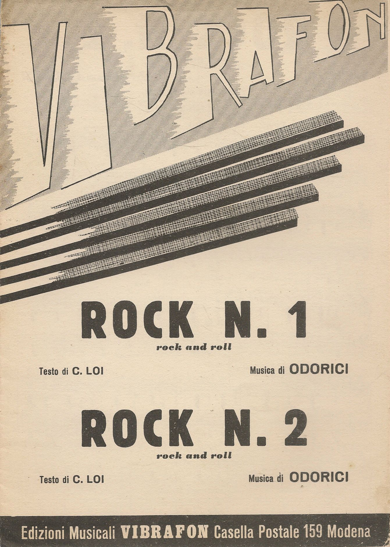 ROCK N.1 - ROCK N. 2 ODORICI - SPARTITO-SHEET MUSIC