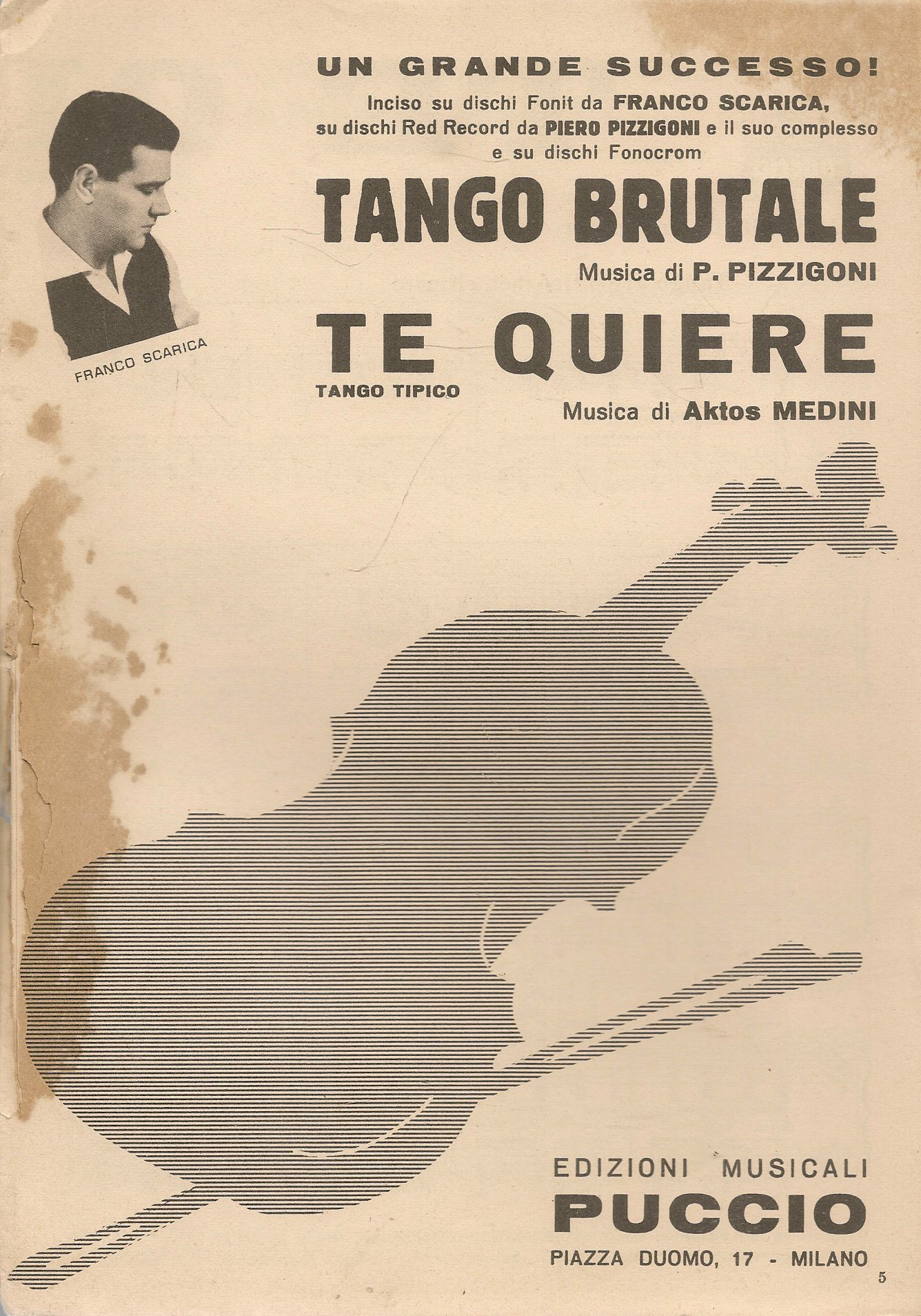 TANGO BRUTALE - TE QUIERE - SPARTITO-SHEET MUSIC