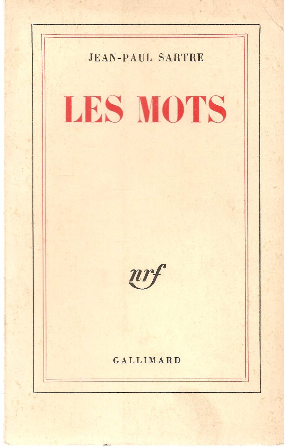 LES MOTS - JEAN-PAUL SARTRE - FRENCH TEXT