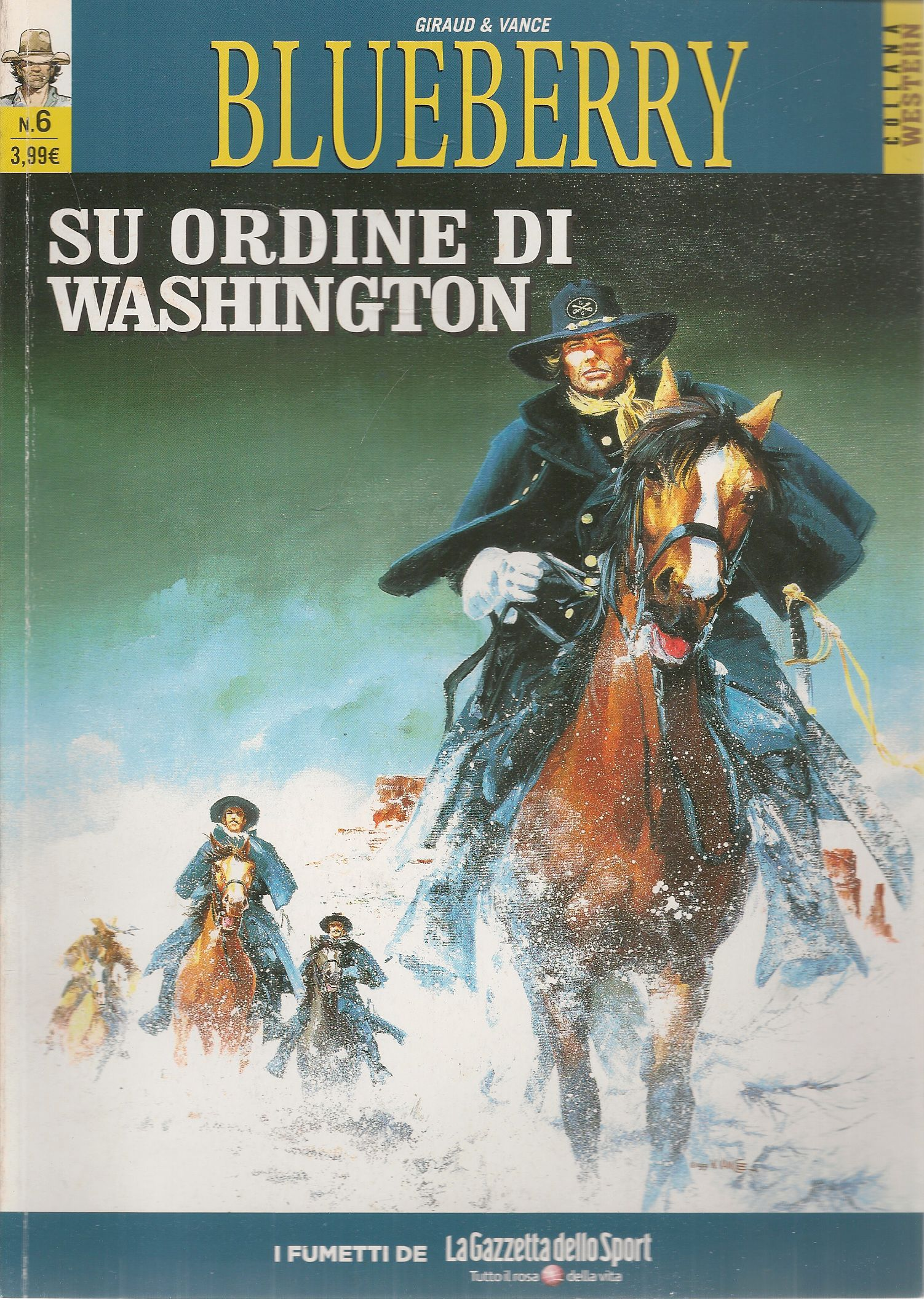 BLUEBERRY N. 6 - SU ORDINE DI WASHIMNGTON