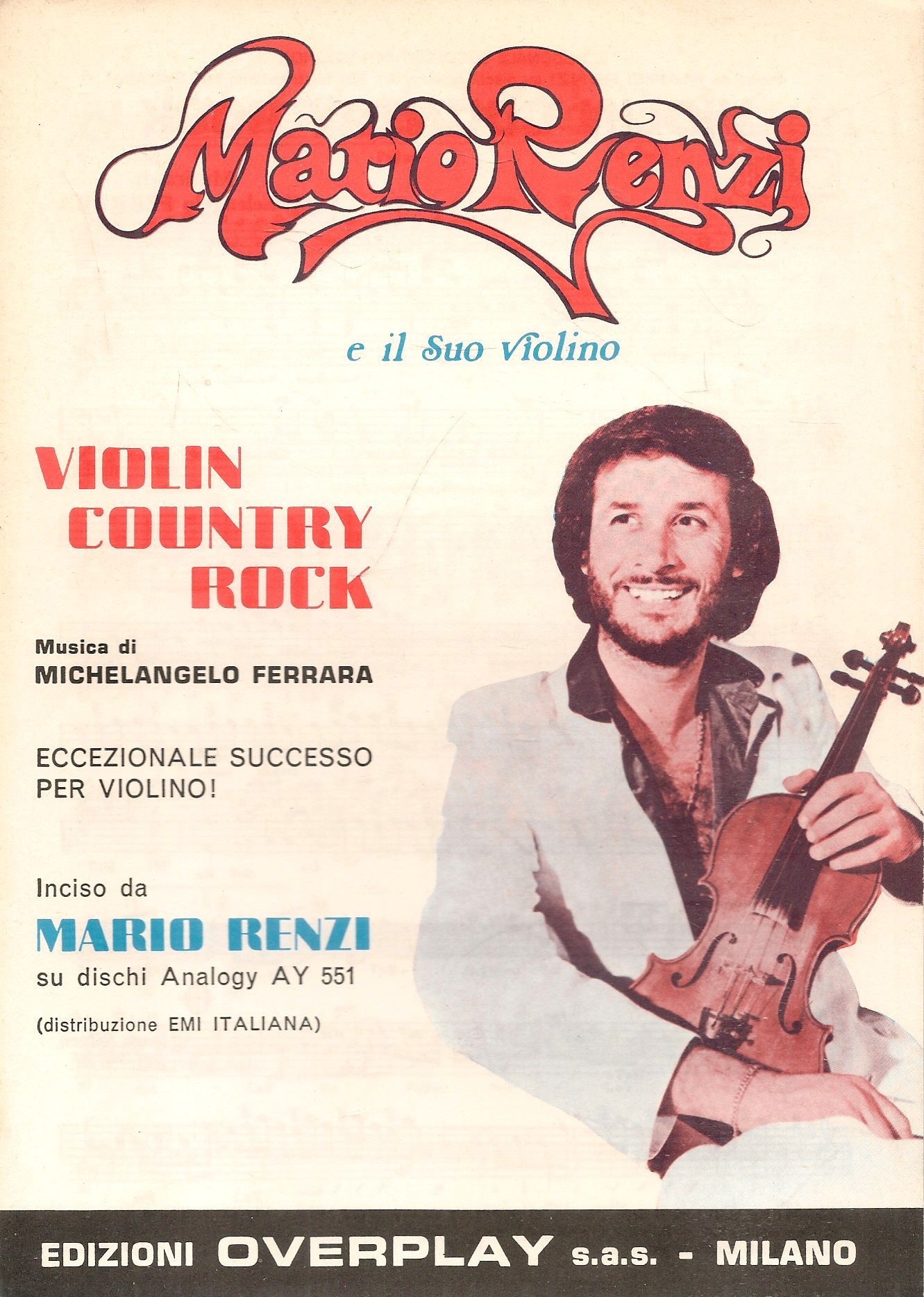 VIOLIN COUNTRY ROCK - MARIO RENZI - SPARTITO-SHEET MUSIC
