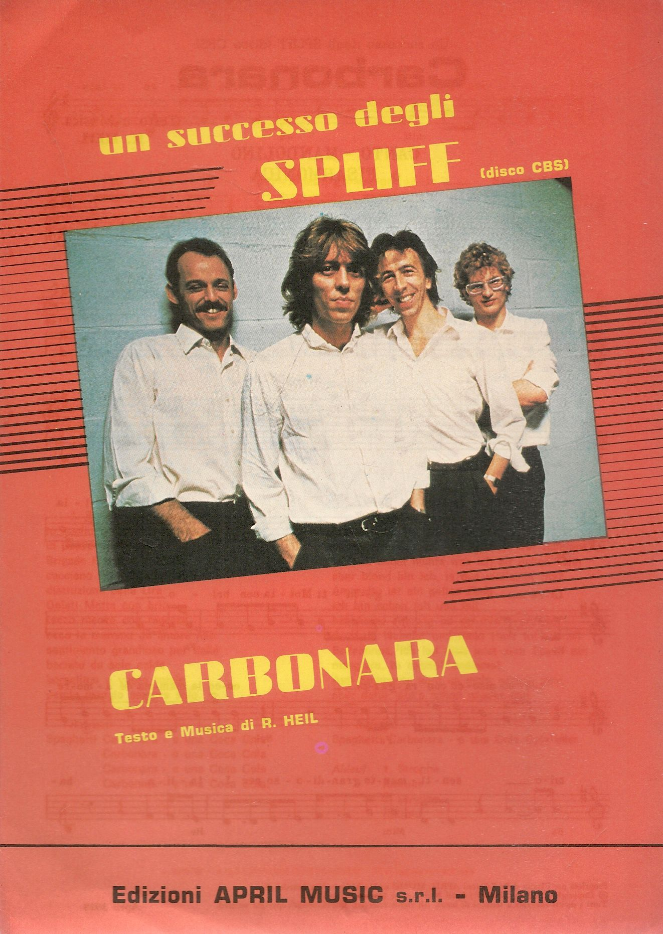 CARBONARA - SPLIFF - SPARTITO-SHEET MUSIC