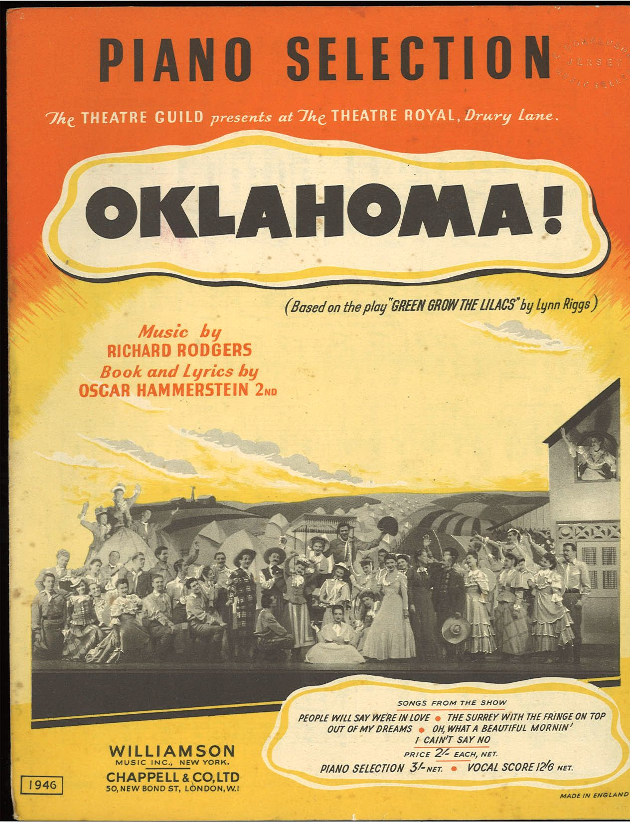 OKLAHOMA - RICHARD RODGERS - SPARTITO-SHEET MUSIC