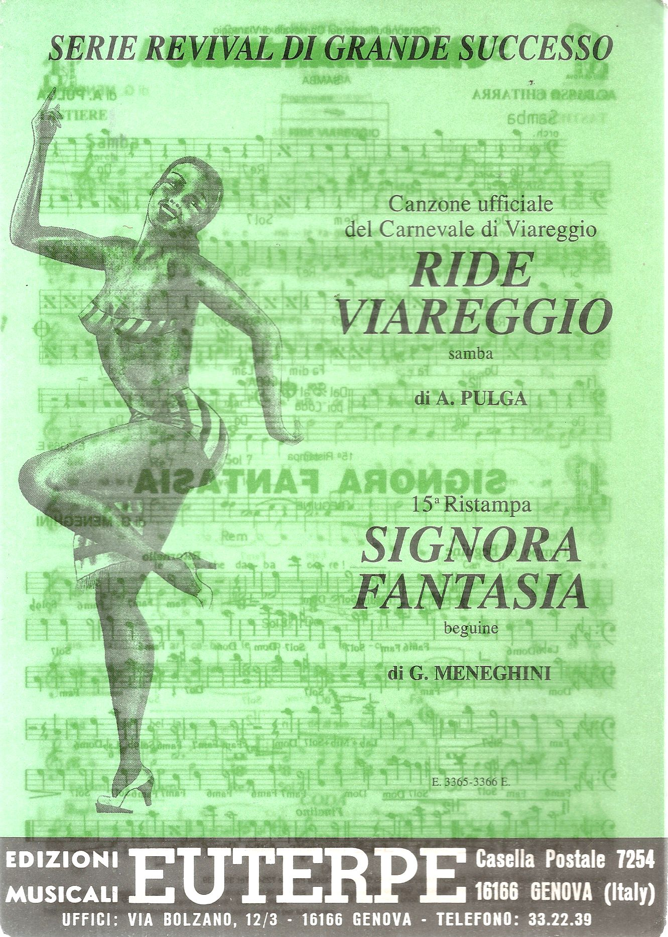 RIDE VIAREGGIO - SIGNORA FANTASIA - SPARTITO-SHEET MUSIC