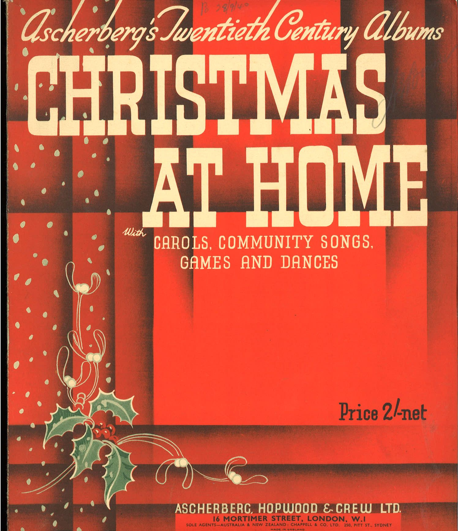 CHRISTMAS AT HOME. 48 MUSICAL PIECES - SPARTITO-SHEET MUSIC