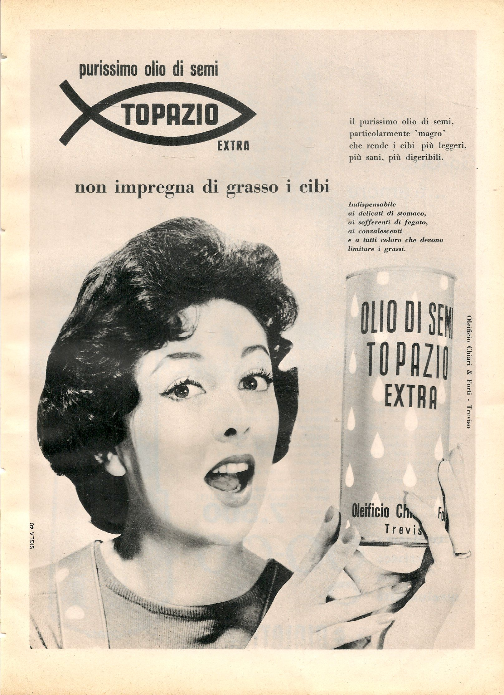 PURISSIMO OLIO DI SEMI TOPAZIO - ADVERTISING