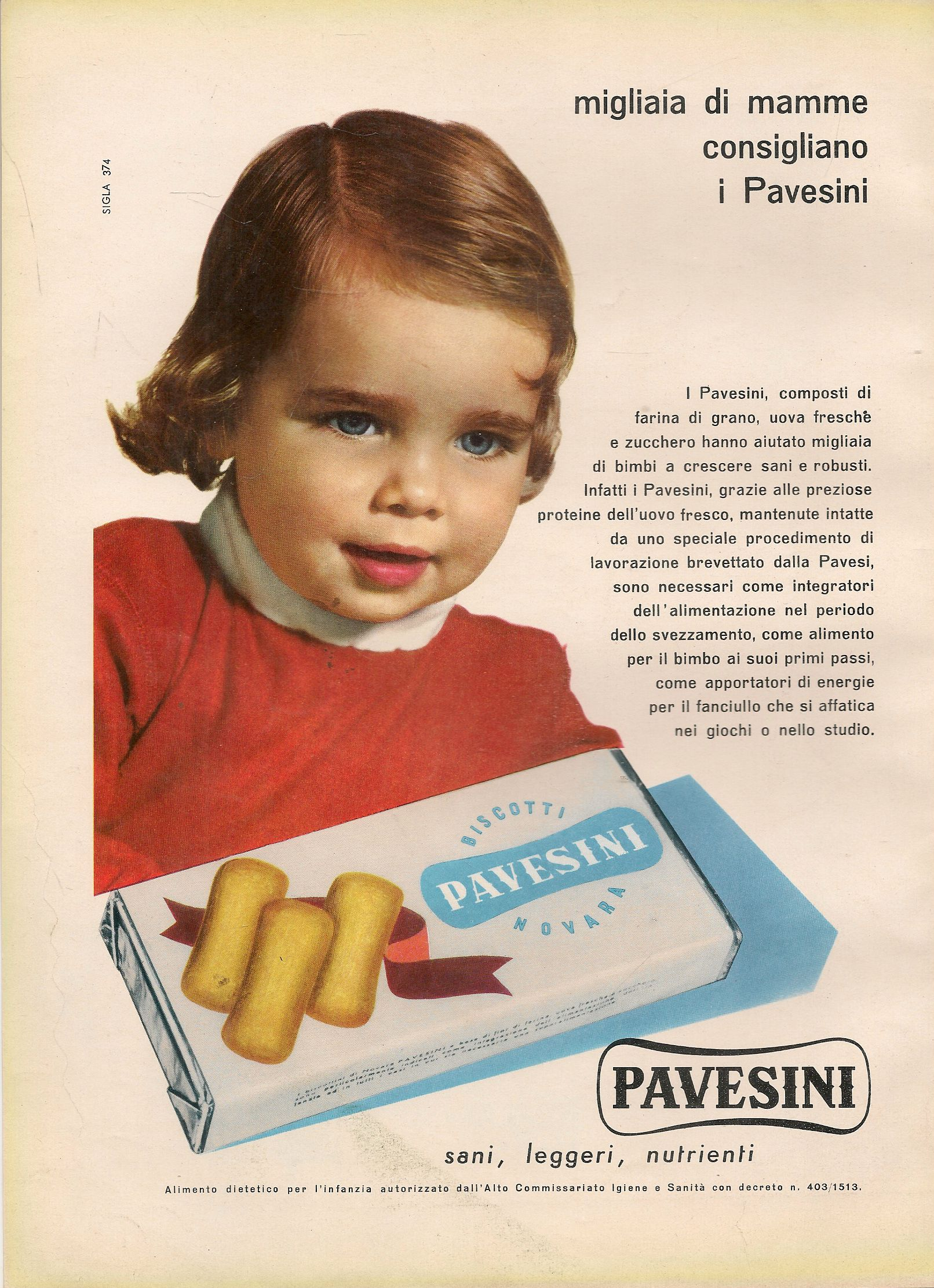 PAVESINI. SANI LEGGERI NUTRIENTI - ADVERTISING
