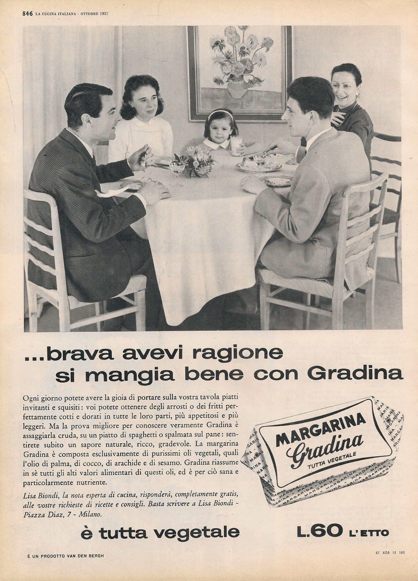 MARGARINA GRADINA. SI MANGIA BENE CON GRADINA - ADVERTISING