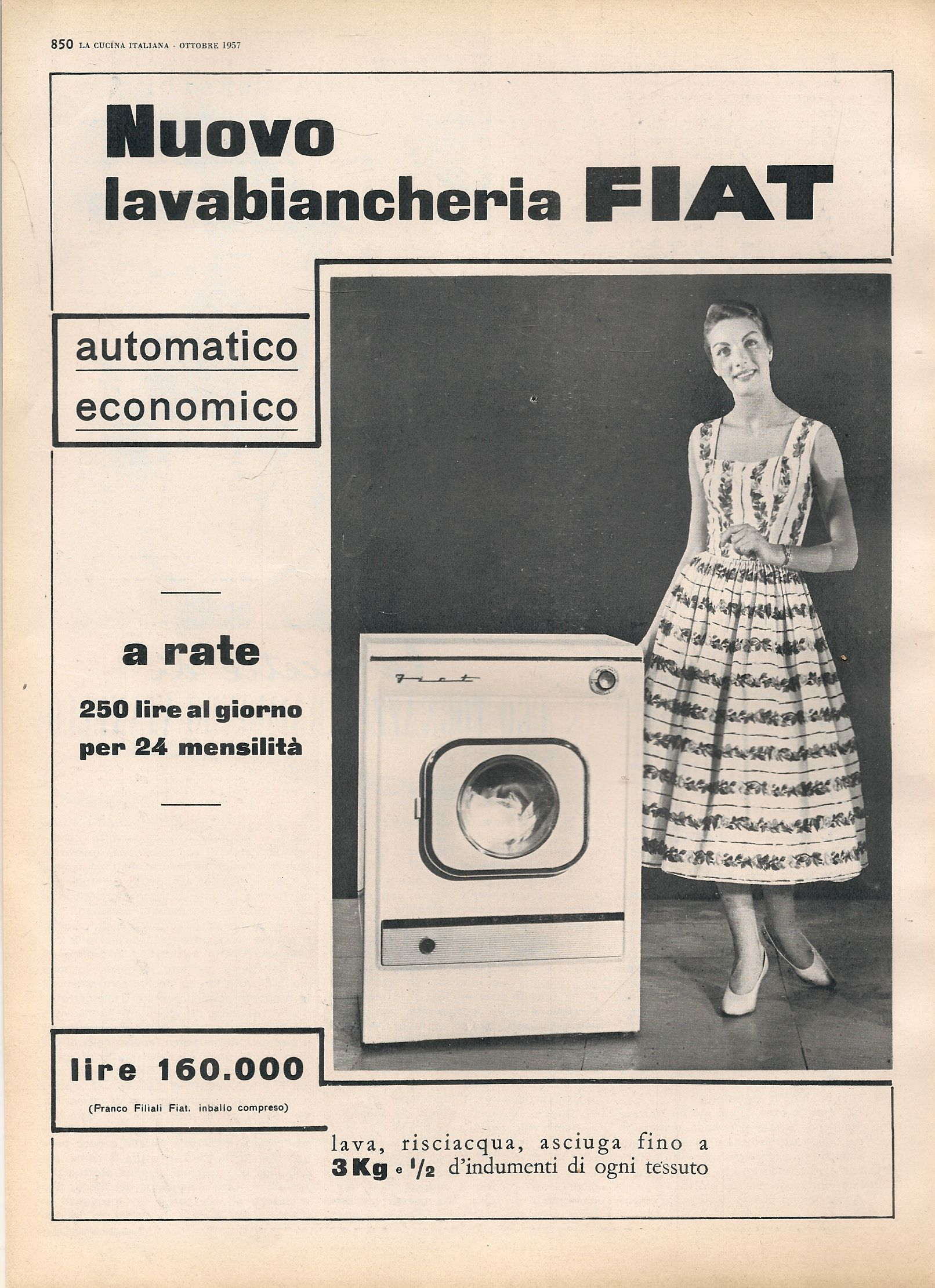 NUOVO LAVABIANCHERIA FIAT - ADVERTISNG