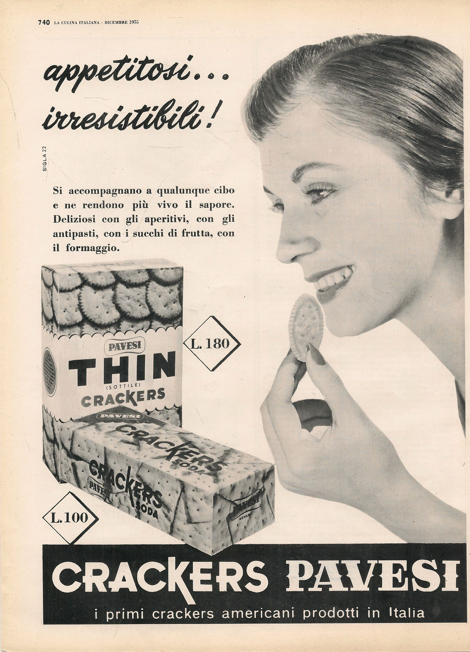 CRACKERS PAVESI. APPETITOSI IRRESISTIBILI - ADVERTISING