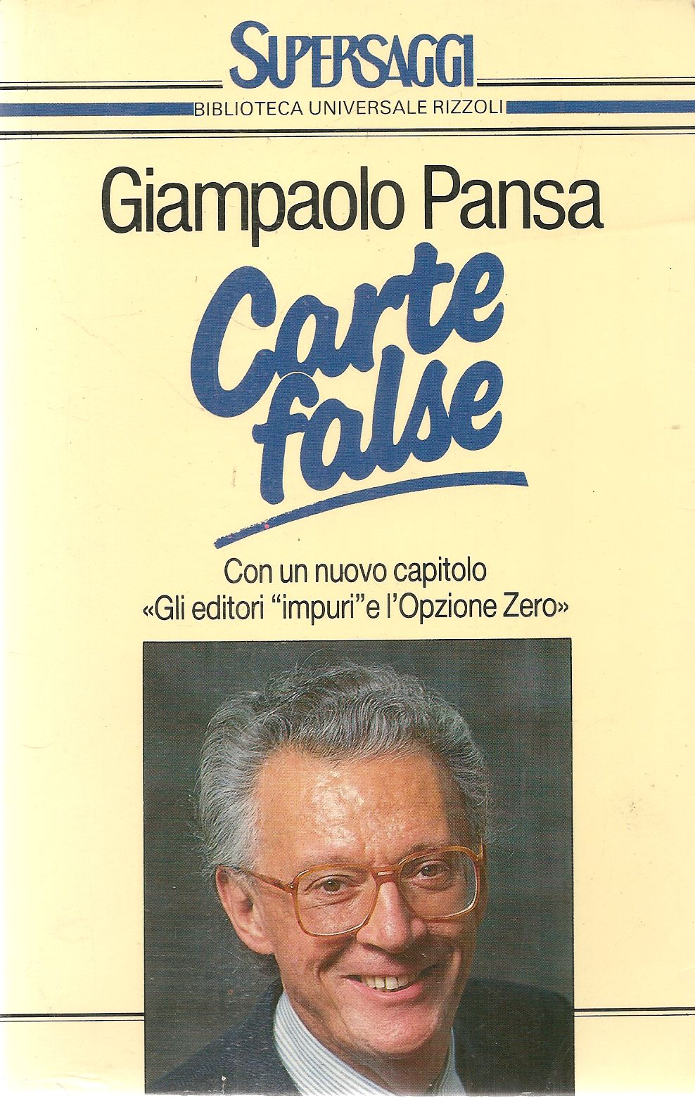 CARTE FALSE - GIANPAOLO PANSA - SUPERBUR 1988