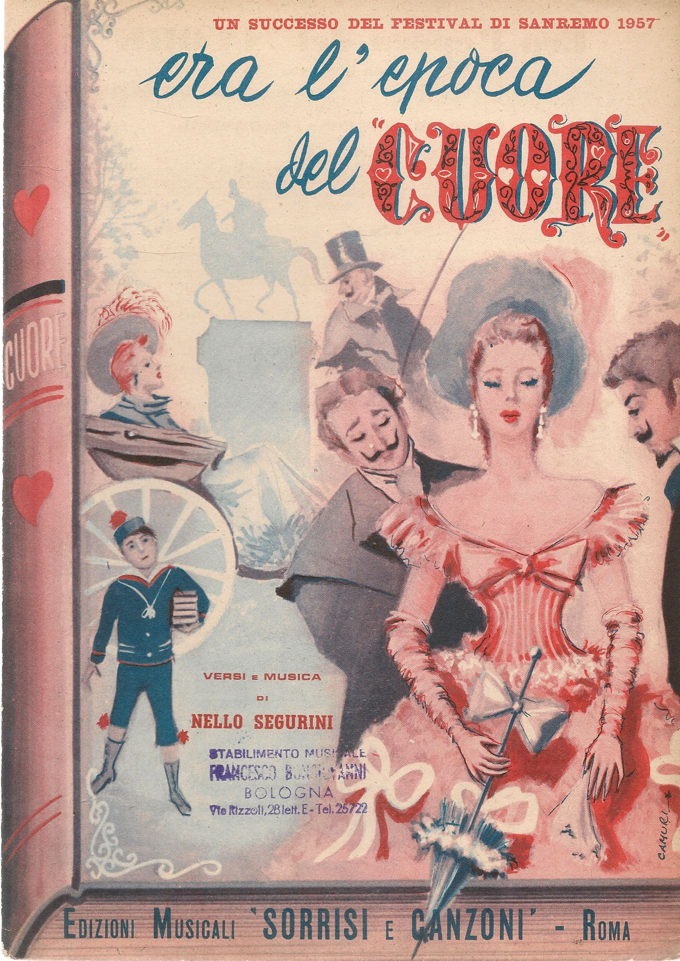 ERA L'EPOCA DEL CUORE - SANREMO 1957 - SPARTITO-SHEET MUSIC