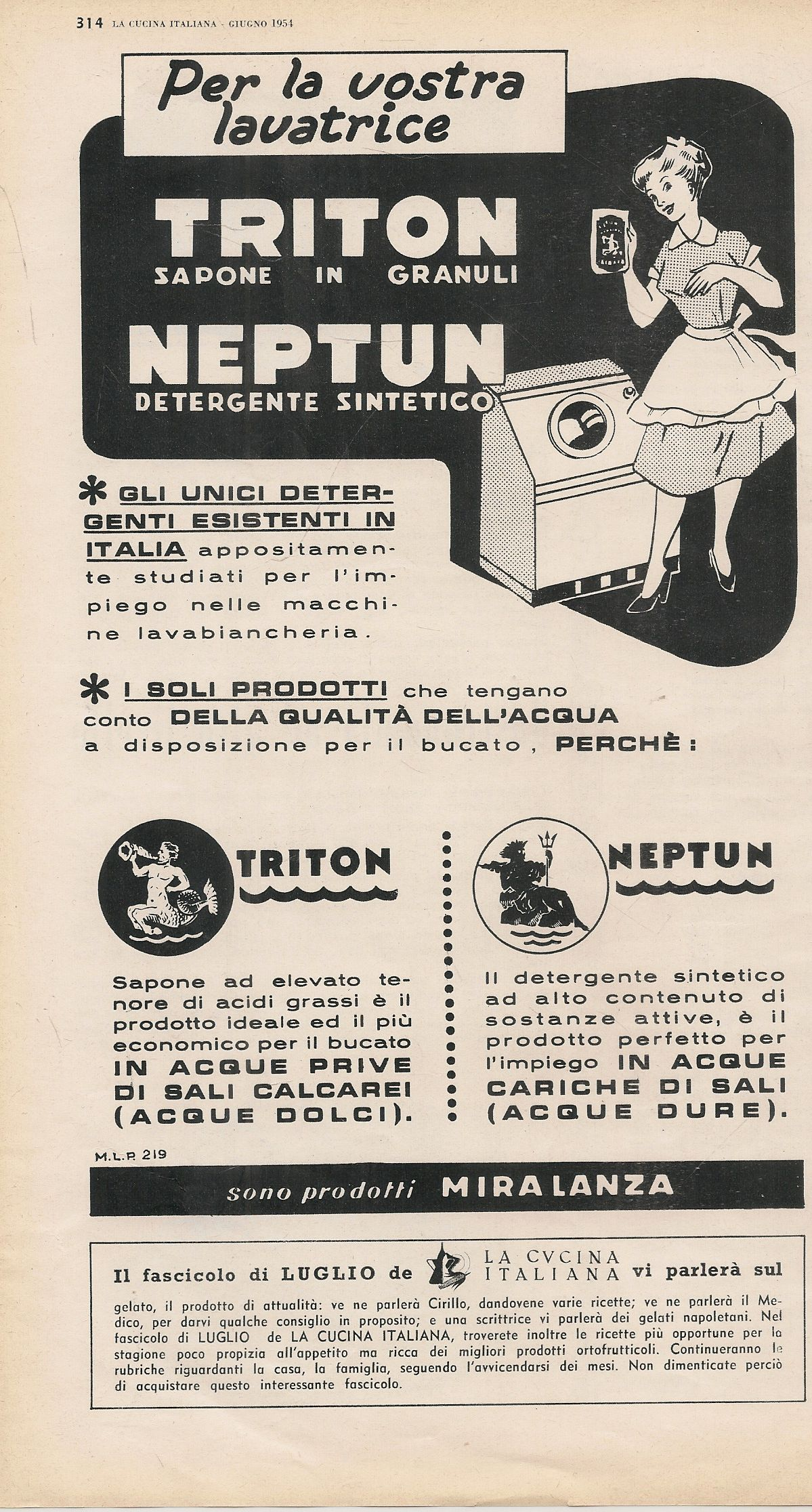 TRITON SAPONE IN GRANULI NEPTUN DETERGENTE - MIRALANZA - ADVERTISING