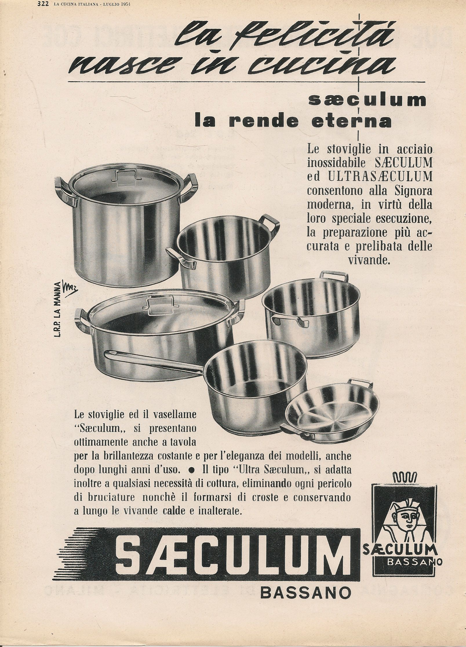 SAECULUM. LA FELCIITA' NASCE IN CUCINA - ADVERTISING