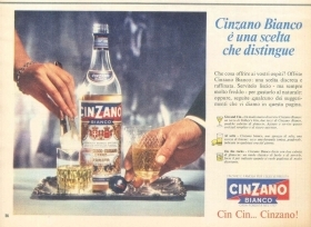 CINZANO BIANCO E' UNA SCETA CHE DISTINGUE - ADVERTISING