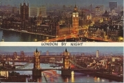 LONDRA BY NIGHT-THE HOUSES OF PARLIAMENT-TOWER BRIDGE,THE RIVER THAMES-VSD