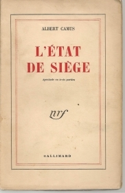 L'ETAT DE SIEGE - ALBERT CAMUS    FRENCH TEXT
