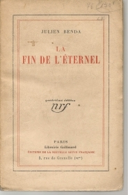 LA FIN DE L'ETERNEL - JULIEN BENDA    FRENCH TEXT