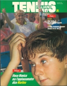 IL TENNIS ITALIANO - NOVEMBRE 1991-VINCE MONICA MA L'APPLAUSOMETRO DICE MARTINA