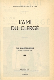 L'AMI DU CLERGE' - ANNATA 1968   FRENCH TEXT