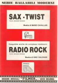 SAX-TWIST - RADIO ROCK - Musiche Cavalalri Valcghiari - SPARTITO-SHEET MUSIC