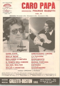 CARO PAPA' - ORCHESTRA FRANCO BAGUTTI VOL. 8 - SPARTITO/SHEET MUSIC