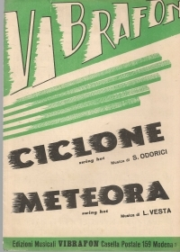 CICLONE - METEORA - SPARTITO SHEET MUSIC