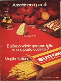 BUITONI. AMATRICIANA PER 4 ... ADVERTISING