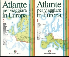 ATLANTE PER VIAGGIARE IN EUROPA. TOURING CLUB ITALIANO - DUE VOLUMI