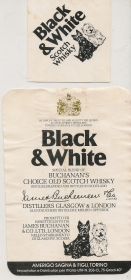 BLACK AND WHITE - SCOTCH WHISKY - ETICHETTA LIQUORE
