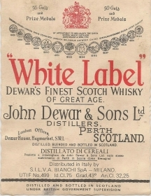WHITE LABEL SCOTCH WHISKEY - ETICHETTA SUPERLACOLICO