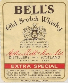BELL'S OLD SCOTCH WHISKY - ETICHETTA SUPERALCOLICO