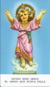 DIVINO NINO JESUS - SANTINO Holy Card - AS015-187 - spanish text