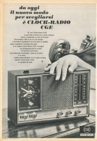 CGE - CLOCK-RADIO - ADVERTISING