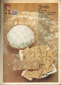 DORIA CRACKERS DORIANO- ADVERTISING