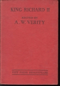 KING RICHARD II - SHAKESPEARE - EDIT A.W. VERITY 1952 (ENGLISH TEXT)