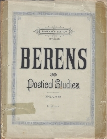 30 POETICAL STUDIES - piano -  Hermann Berens -- SPARTITO