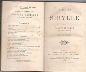HISTOIRE DE SIBYLLE - OCTAVE FEUILLET- (FRENCH TEXT)