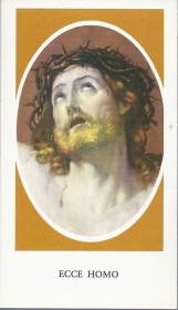 ECCE HOMO - SANTINO HOLY CARD - AS015-273 - spanish text