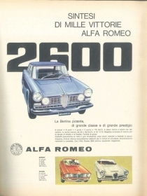 ALFA ROMEO 2600 - AUTO - ADVERSITING