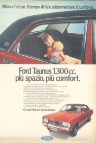 FORD TAUNUS 1300- AUTO - ADVERSITING -